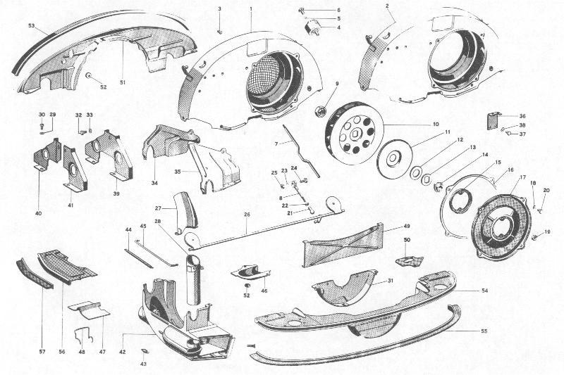 Pelican Parts  Porsche 356b Fan Shroud And Engine Sheet Metal