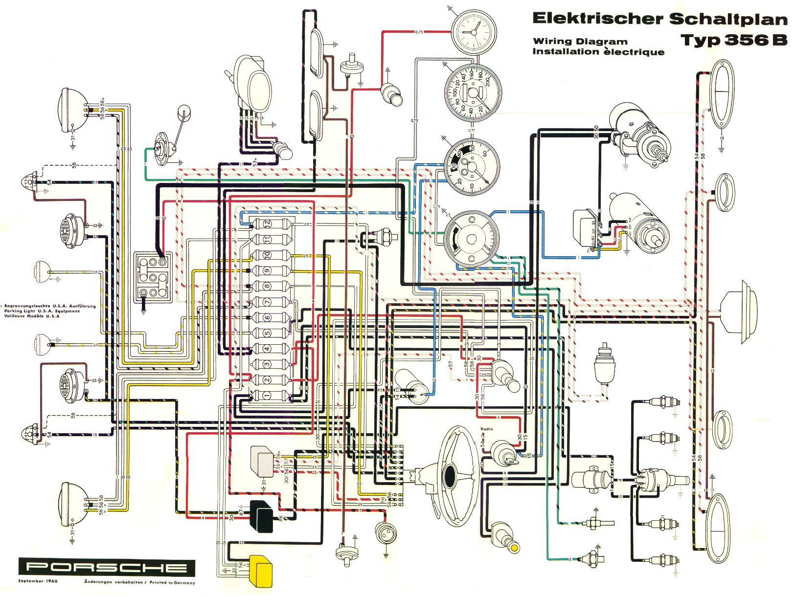 356B_electrical_dia pelican parts porsche 356 electrical diagram porsche 356 wiring diagram at bayanpartner.co