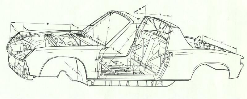 pelican parts  porsche 914 body dimensions