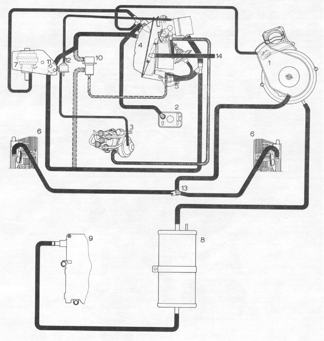 pelican parts  porsche 914 fuel injection hose layout