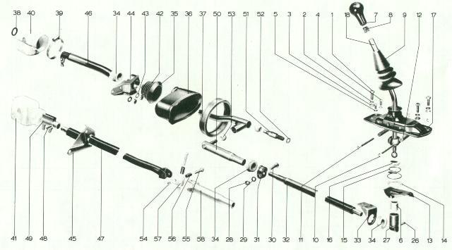 pelican parts  porsche 914 transmission tail shift linkage