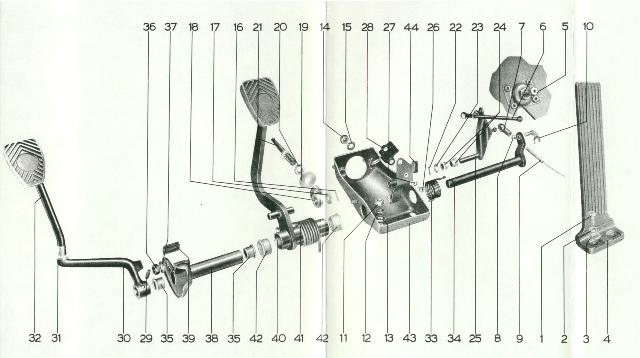 Wires Plugs additionally Mult pedal cluster besides Engine Mount Bracket RSR Style Porsche 911 1965 89 additionally Heating System besides Porsche Schaltplan. on 1965 porsche 912