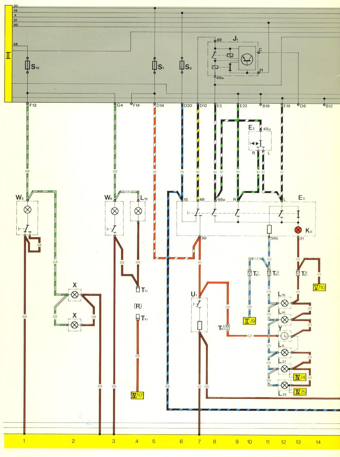 Porsche 944 Power Window Wiring Diagram Just Another Location Fuse 2002 Pontiac Aztek Instrument Gauges Pelican Parts 924 Electrical Diagrams Rh Pelicanparts Com 1986 Engine Compartment