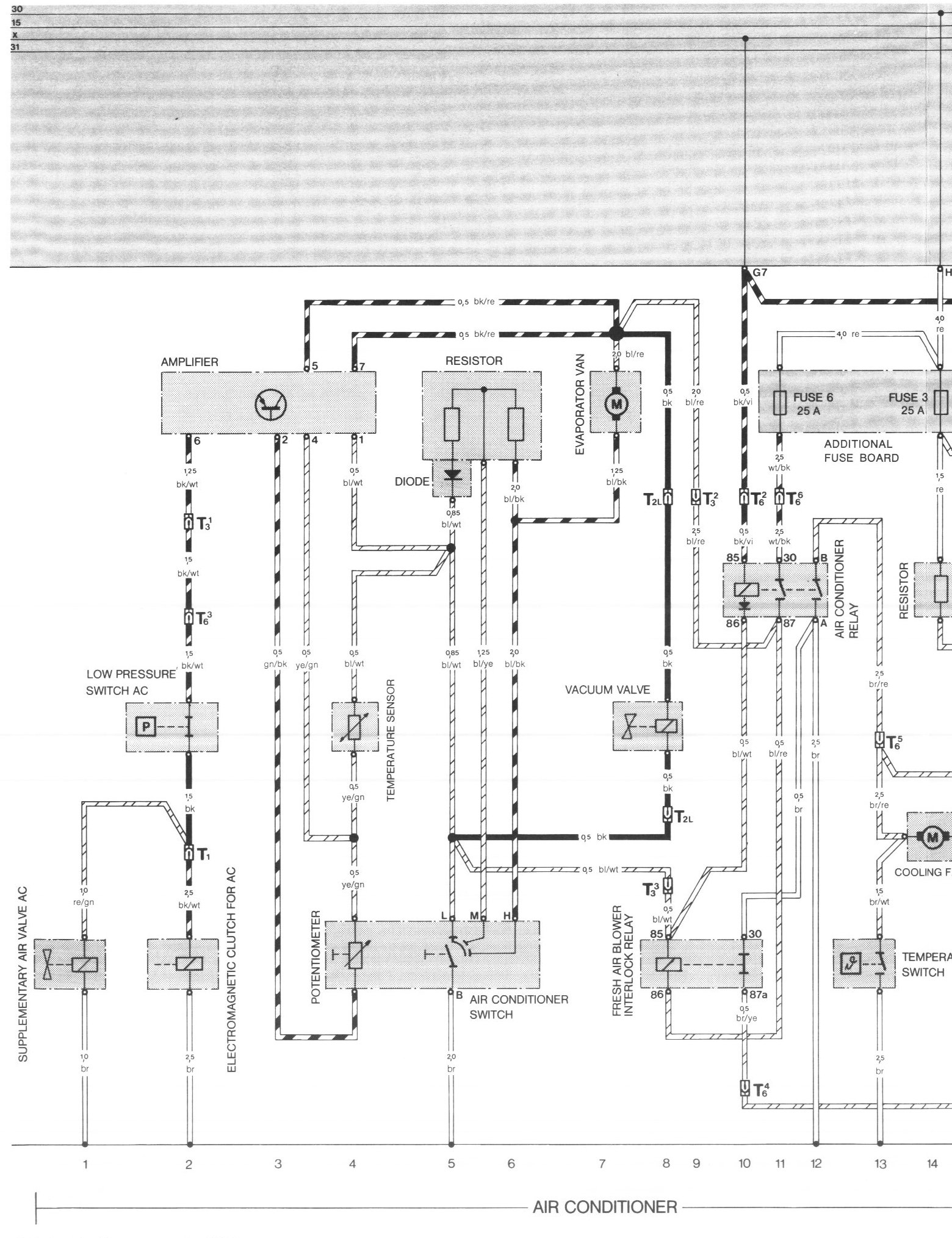 pelican parts porsche 924 944 electrical diagrams Hayden Fan Controller Wiring at Early 911 Fan Control Wiring Diagram