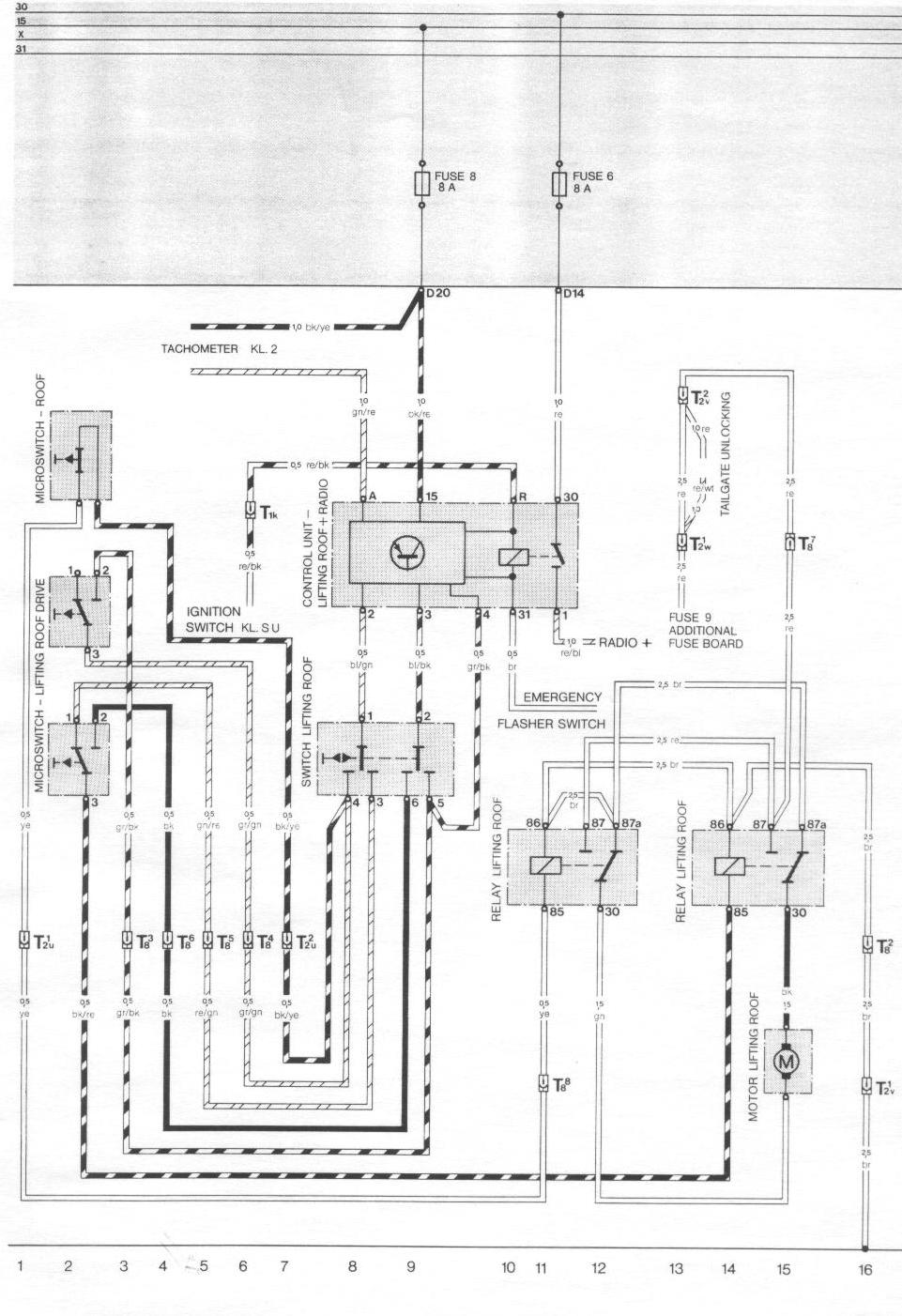 944_84_sunroof pelican parts porsche 924 944 electrical diagrams 1983 porsche 944 fuse box diagram at bayanpartner.co
