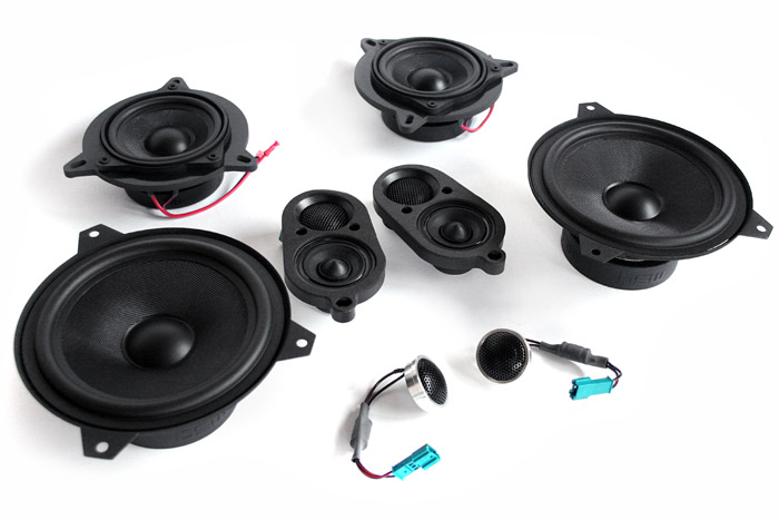 Bavsound E46 Convertible Stage One Speaker Upgrade Kit - Pelican Parts
