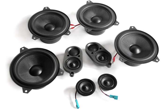 Bavsound E46 Coupe Stage One Speaker Upgrade Kit Pelican