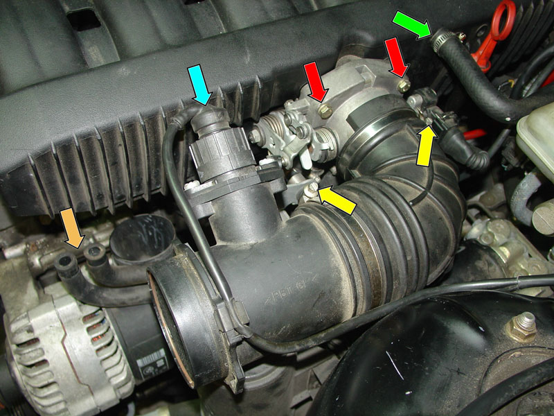 bmw e36 3 series intake manifold removal (1992 1999) pelicanDiagram Besides 1993 Bmw 325i Near The Oil Filter Diagram As Well Bmw #2