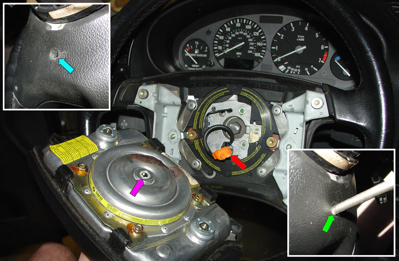 Pic3 01 bmw e36 3 series steering wheel removal and replacement (1992 e46 steering wheel wiring at edmiracle.co