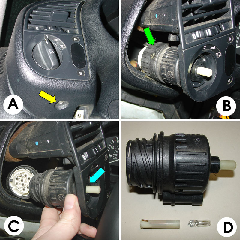 Bmw E36 3 Series Headlamp Switch Replacement 1992 1999
