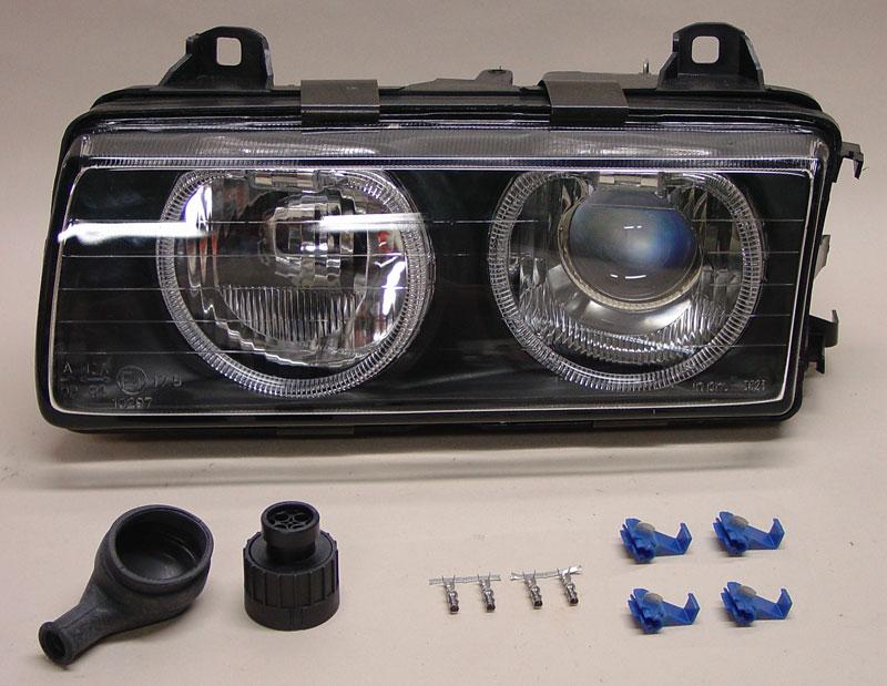 Pic1 01 bmw e30 e36 angel eyes ellipsoid installation 3 series (1983 E36 Depo Headlights at edmiracle.co
