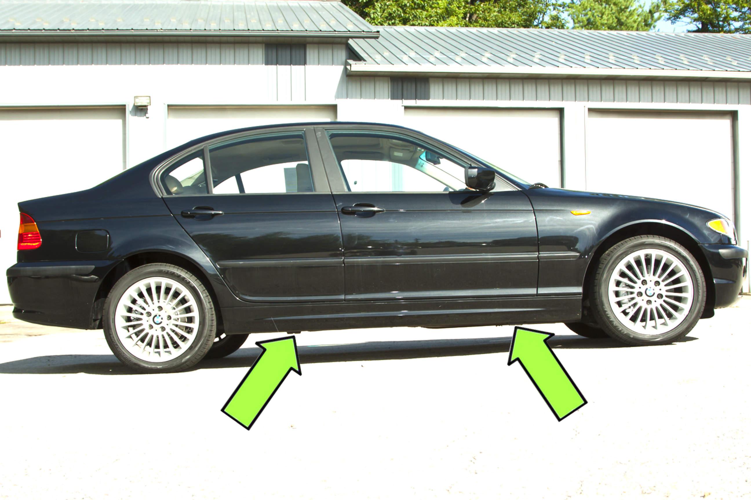 bmw e46 jacking up your vehicle bmw 325i 2001 2005. Black Bedroom Furniture Sets. Home Design Ideas
