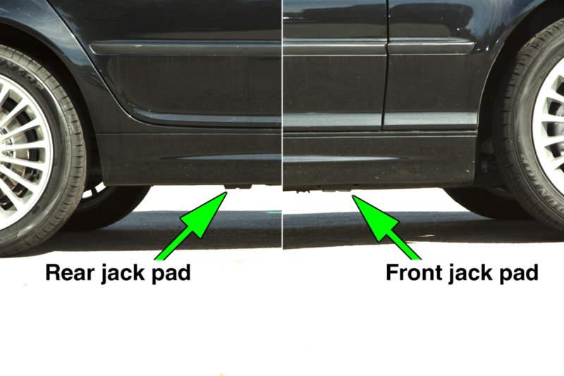Bmw E46 Jacking Up Your Vehicle Bmw 325i 2001 2005