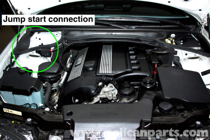 bmw e46 battery replacement and connection notes