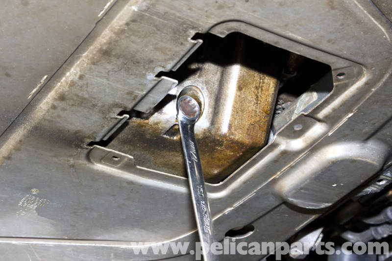 how to clean engine with oil pan off