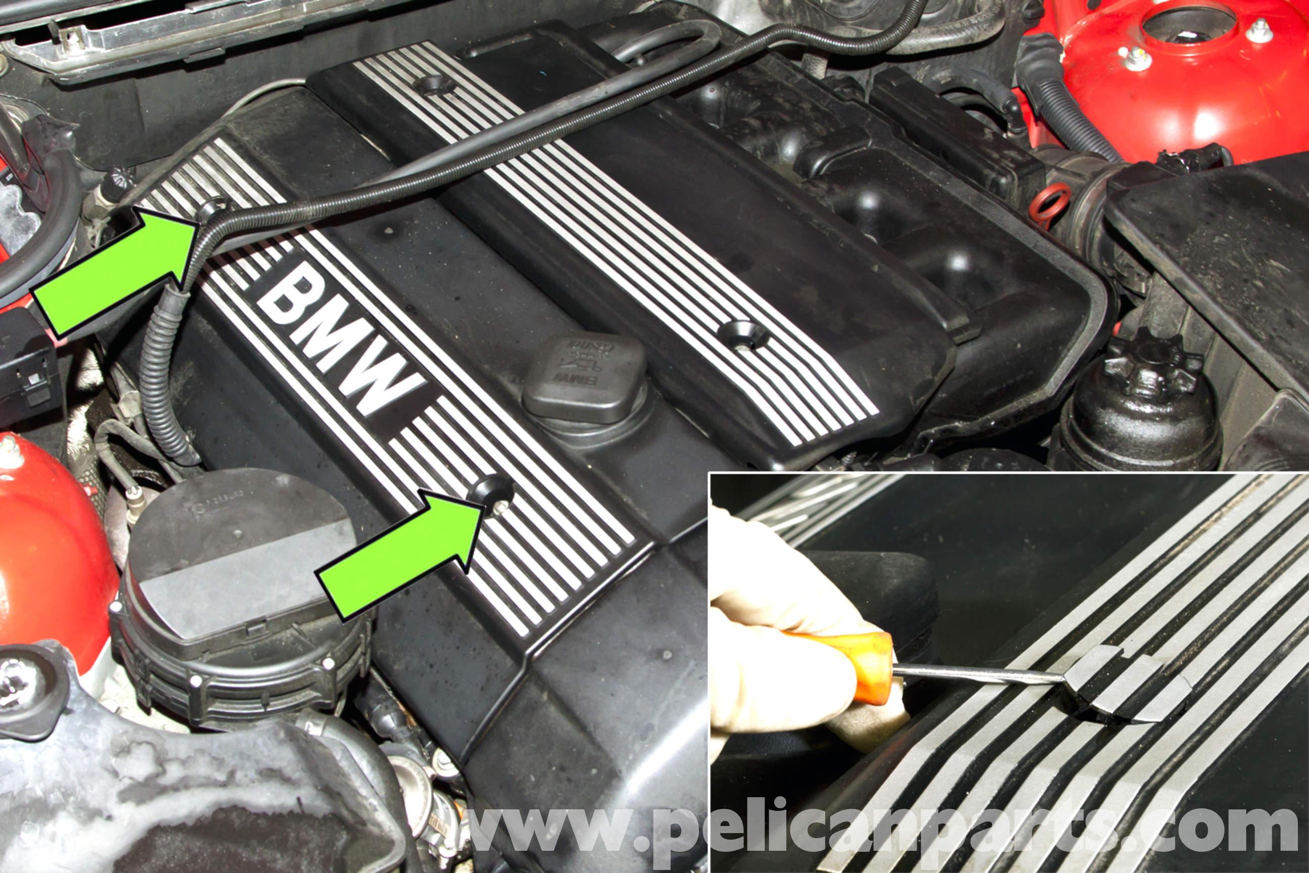 bmw e46 engine cover removal