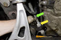 Then pull steering shaft (green arrow) straight up and out of coupler.