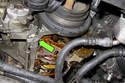 This photo shows the front crankcase half area that has to be sealed.