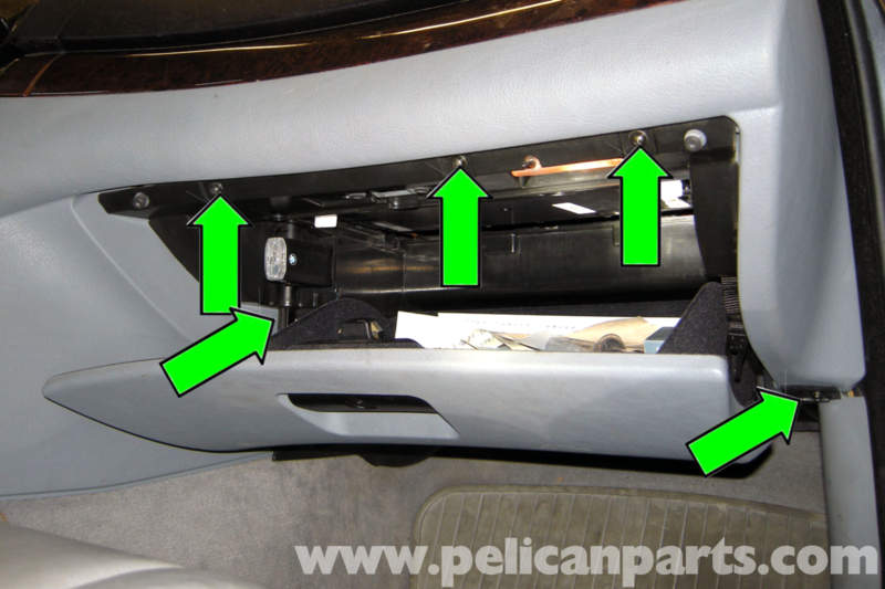 bmw e46 fuel pump testing bmw 325i 2001 2005 bmw 325xi 2001 next remove five phillips head screws from glove compartment green arrows