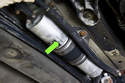 Depending on fuel the filter manufacturer, there may also be an arrow facing in direction of fuel flow.