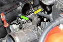 Next remove the E46 intake air ducts from your throttle housing.
