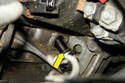 Once the Allen bolt is removed, pull the crankshaft sensor out of the engine block.