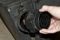 Pull the mass air flow sensor out of the E46 air filter housing.