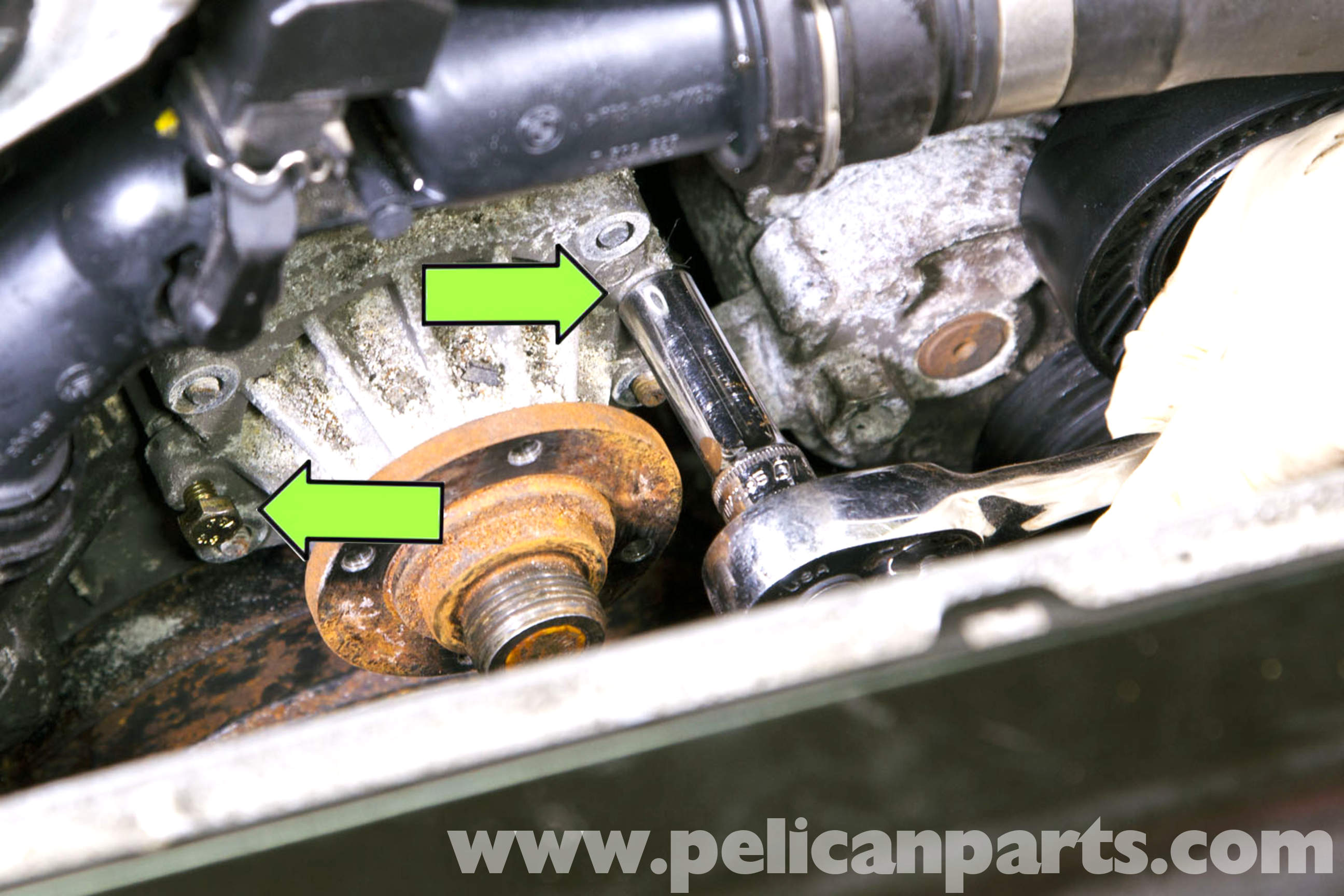 bmw e46 water pump replacement bmw 325i 2001 2005 bmw. Black Bedroom Furniture Sets. Home Design Ideas