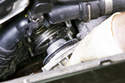 Once your water pump o-ring has cleared the timing cover, you can remove it by hand.