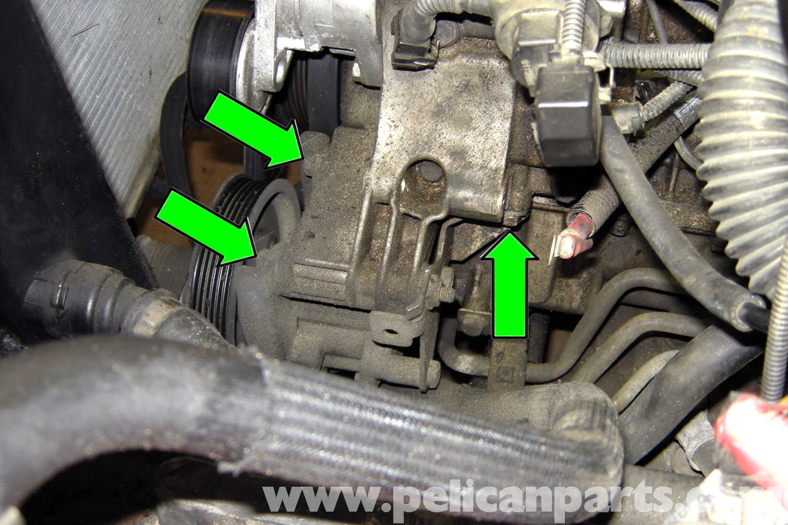 bmw e46 power steering pump replacement