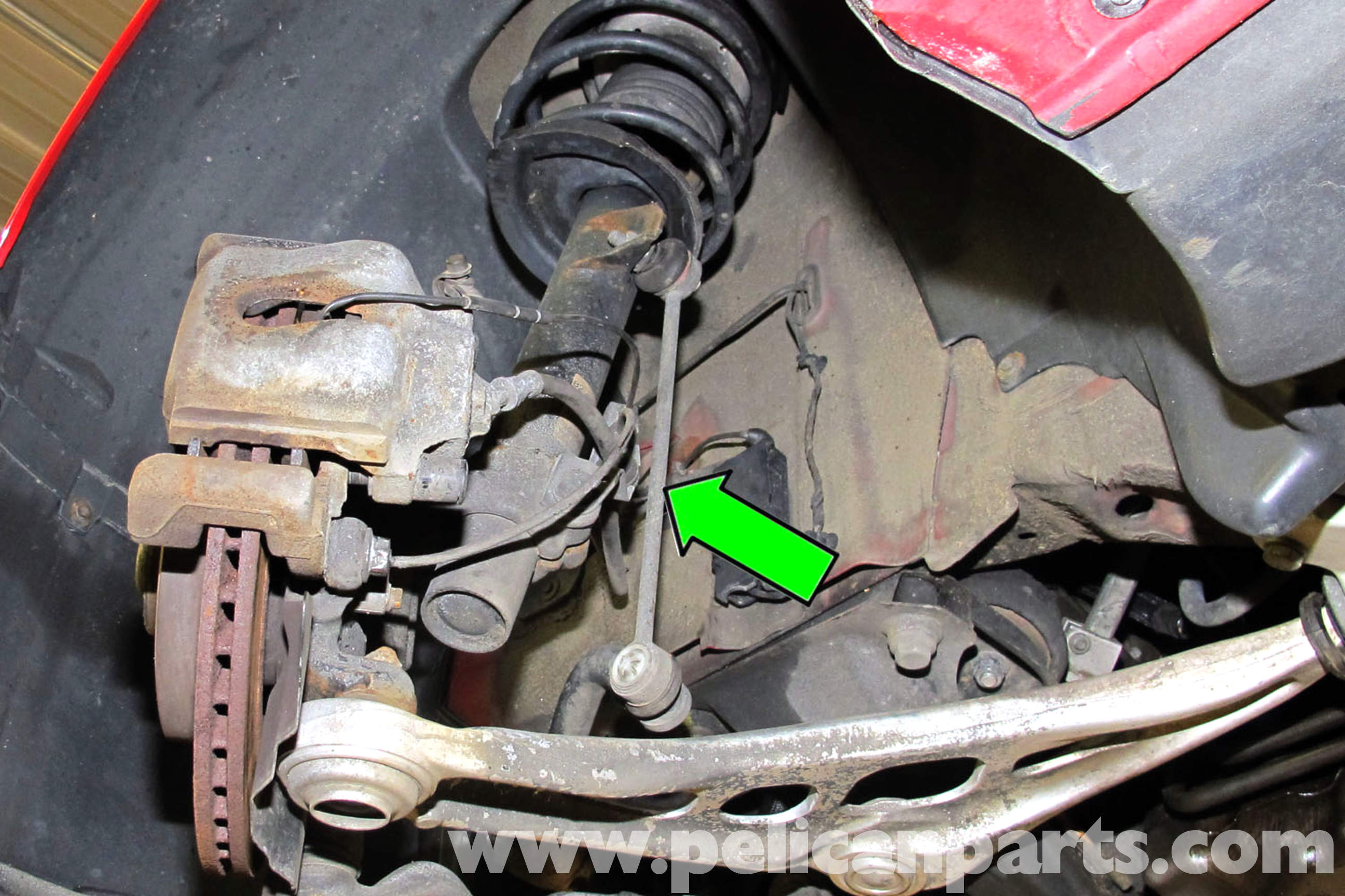 BMW E46 Stabilizer Link Replacement | BMW 325i (2001-2005 ...