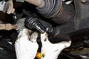 When installing the new control arm - first install the subframe ball joint to the subframe.