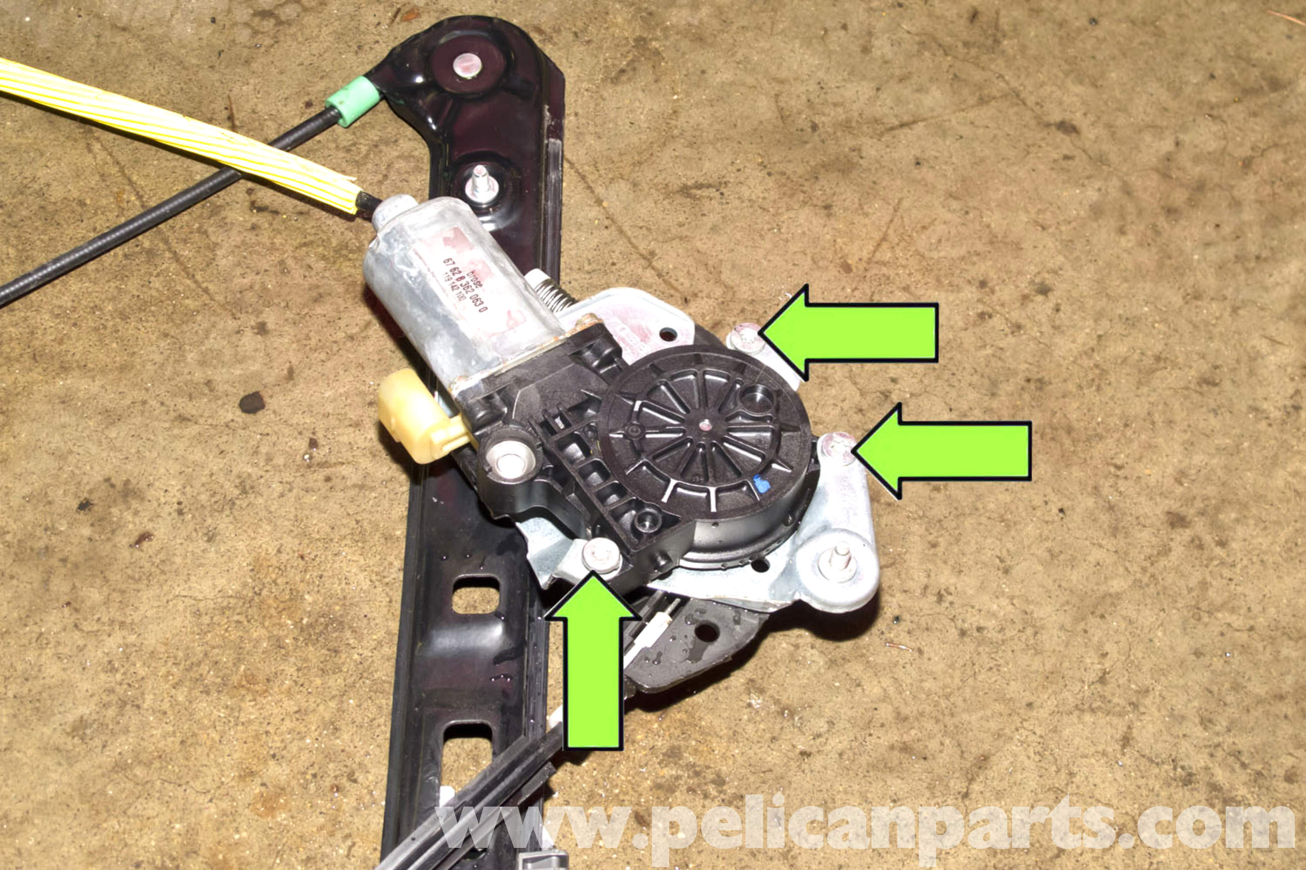 bmw e46 front window regulator replacement bmw 325i 2001 2005 rh pelicanparts com bmw e90 window regulator repair kit bmw e90 window regulator repair