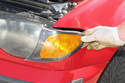 Slide the turn signal lens out of the fender, disconnect the electrical connector and remove the turn signal lens from the vehicle.