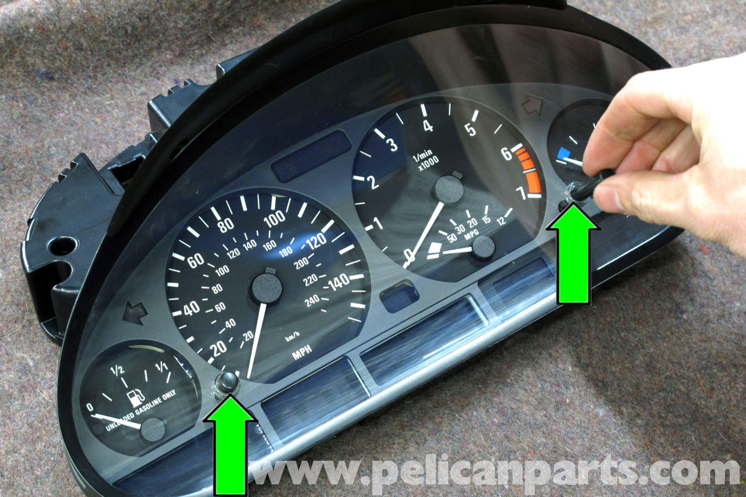 Bmw E46 Instrument Cluster Removal 325i 2001 2005 325xi Gauge Wiring Diagram Large Image Extra