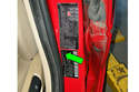 Using the sticker on your driver door jam, you can also determine production date (green arrow).