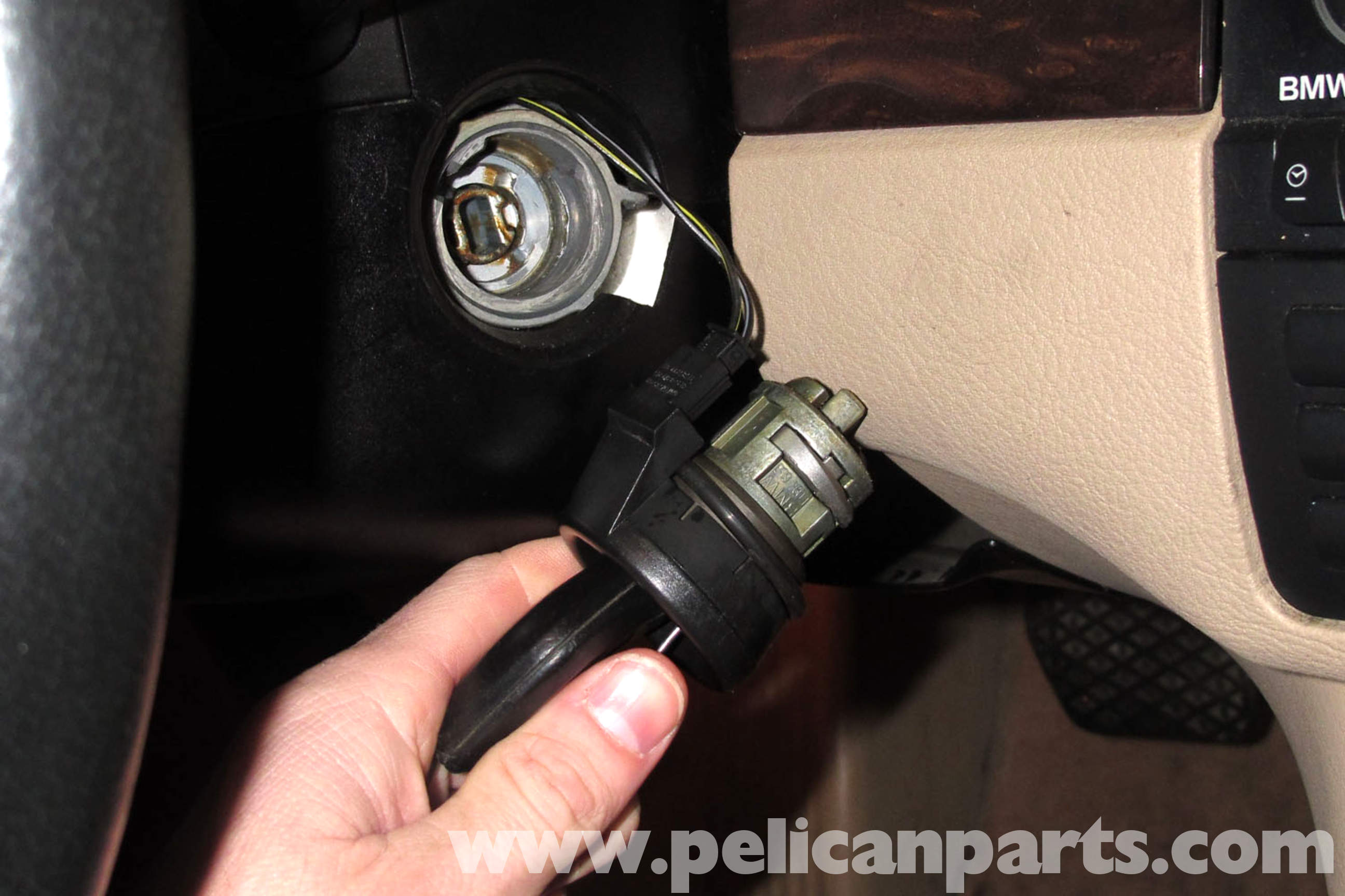 Bmw E46 Ignition Lock Cylinder Replacement 325i 2001 2005 Switch Large Image Extra
