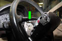Pull airbag off steering wheel enough to access electrical connectors.