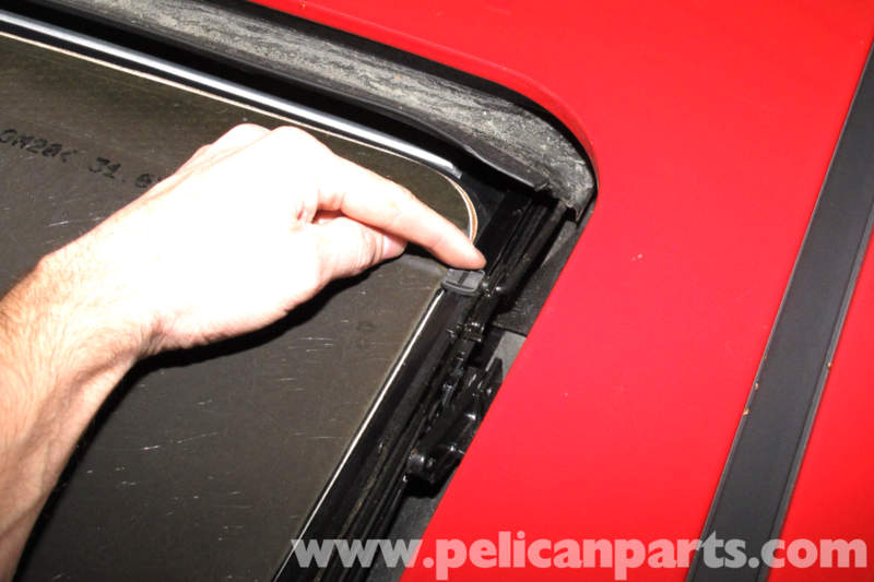 BMW E46 Sunroof Shade Slider Rail Repair Metal Clip Left Side After Sept//2003