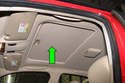 In this tech article I will cover how to remove the sunroof glass panel and repair the sun shade (green arrow) plastic guides.