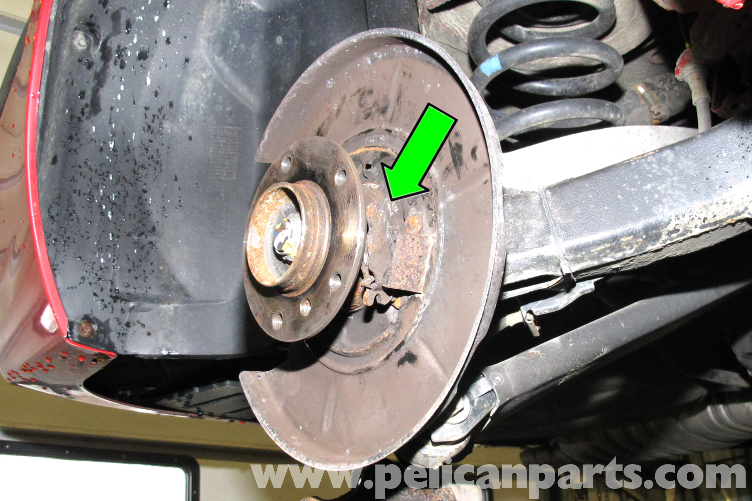 Bmw E46 Parking Brake Shoe Backing Plate Replacement Bmw