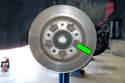 Next, using a 6mm Allen bit, remove brake rotor mounting fastener.