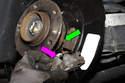 Install parking brake shoe lever.
