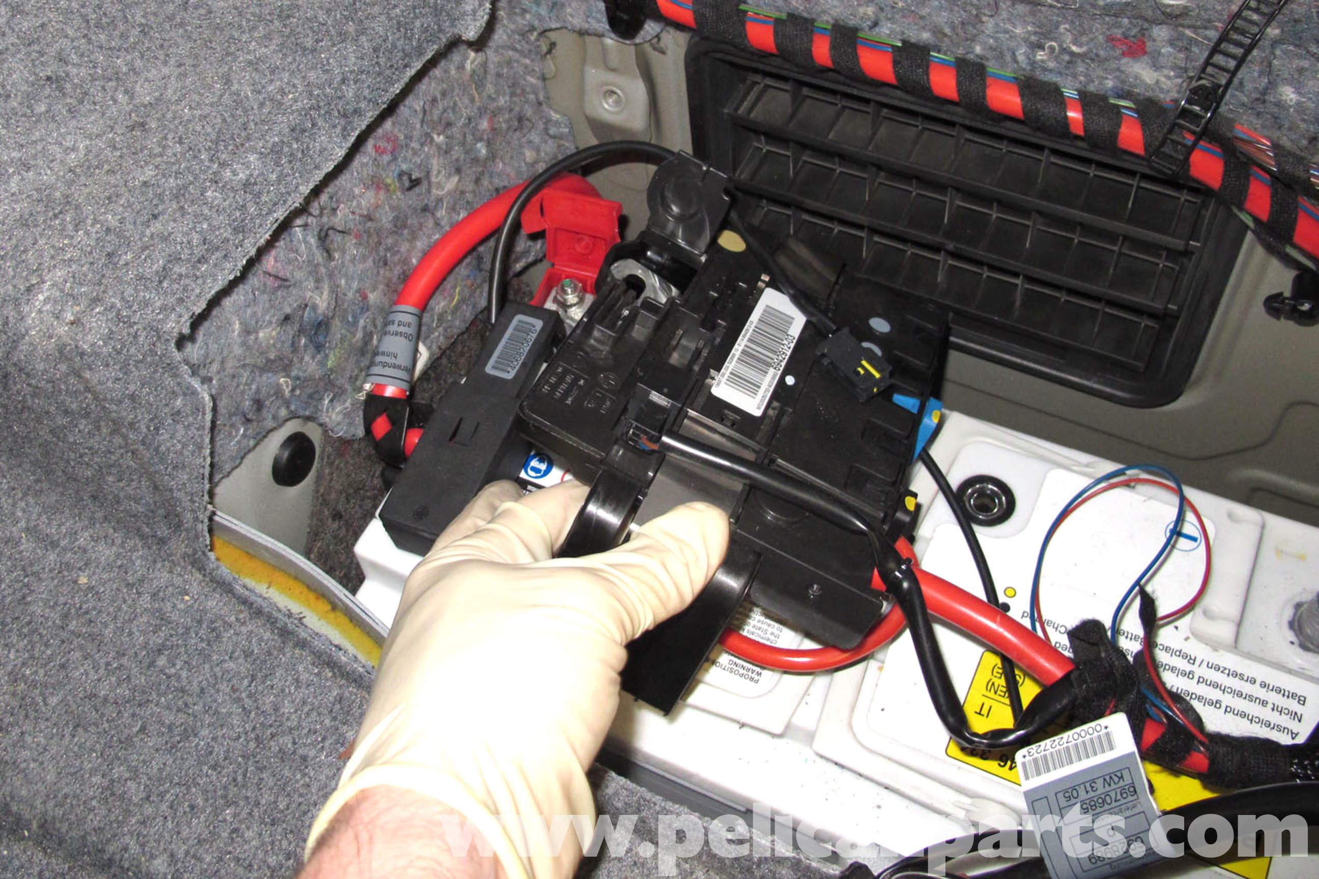 pic10 bmw e90 battery replacement e91, e92, e93 pelican parts diy  at gsmportal.co