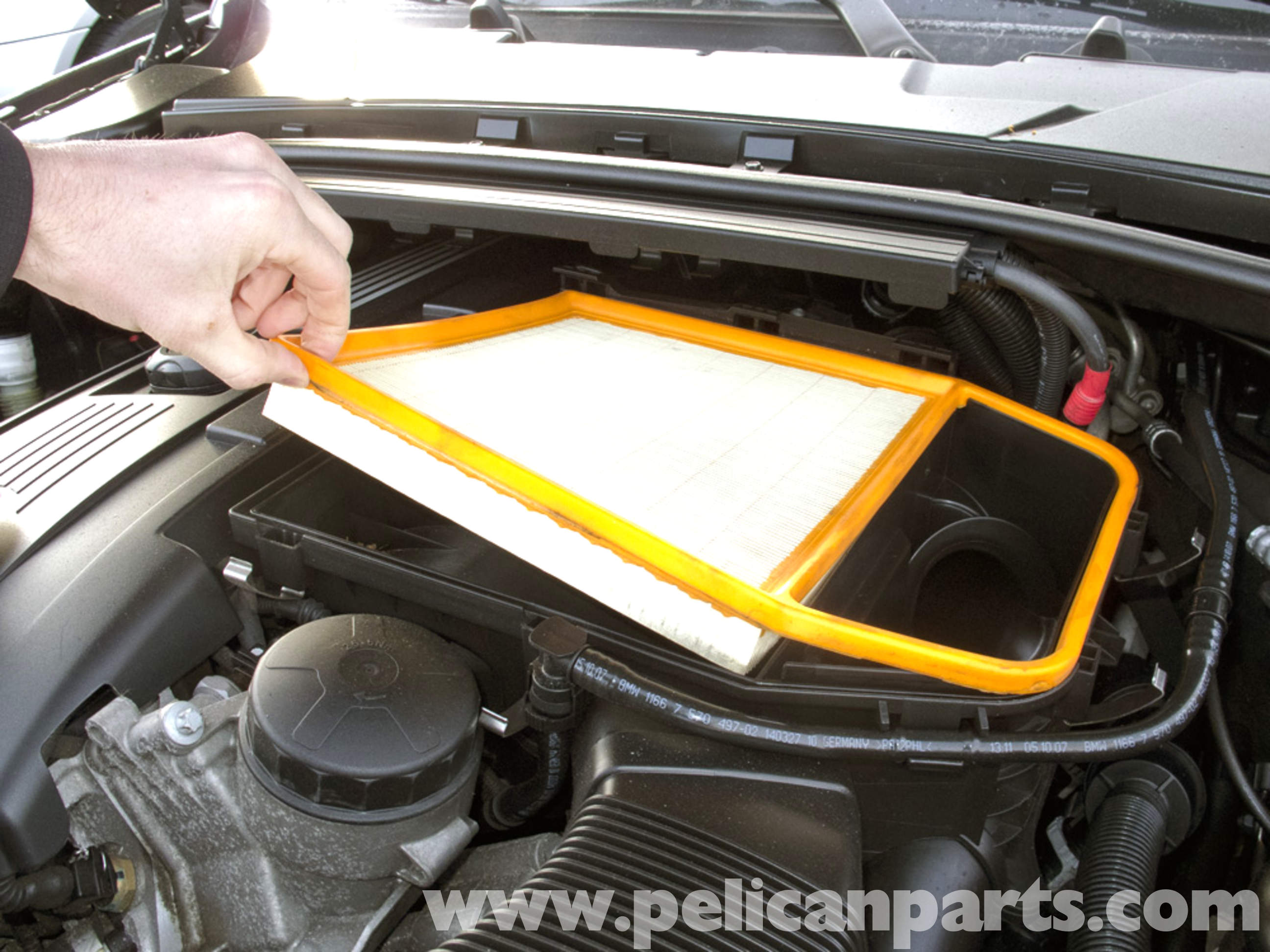 Bmw E90 Air Filter Replacement E91 E92 E93 Pelican Parts Diy Maintenance Article