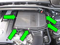 Remove air filter from housing, install new filter and reinstall lid.