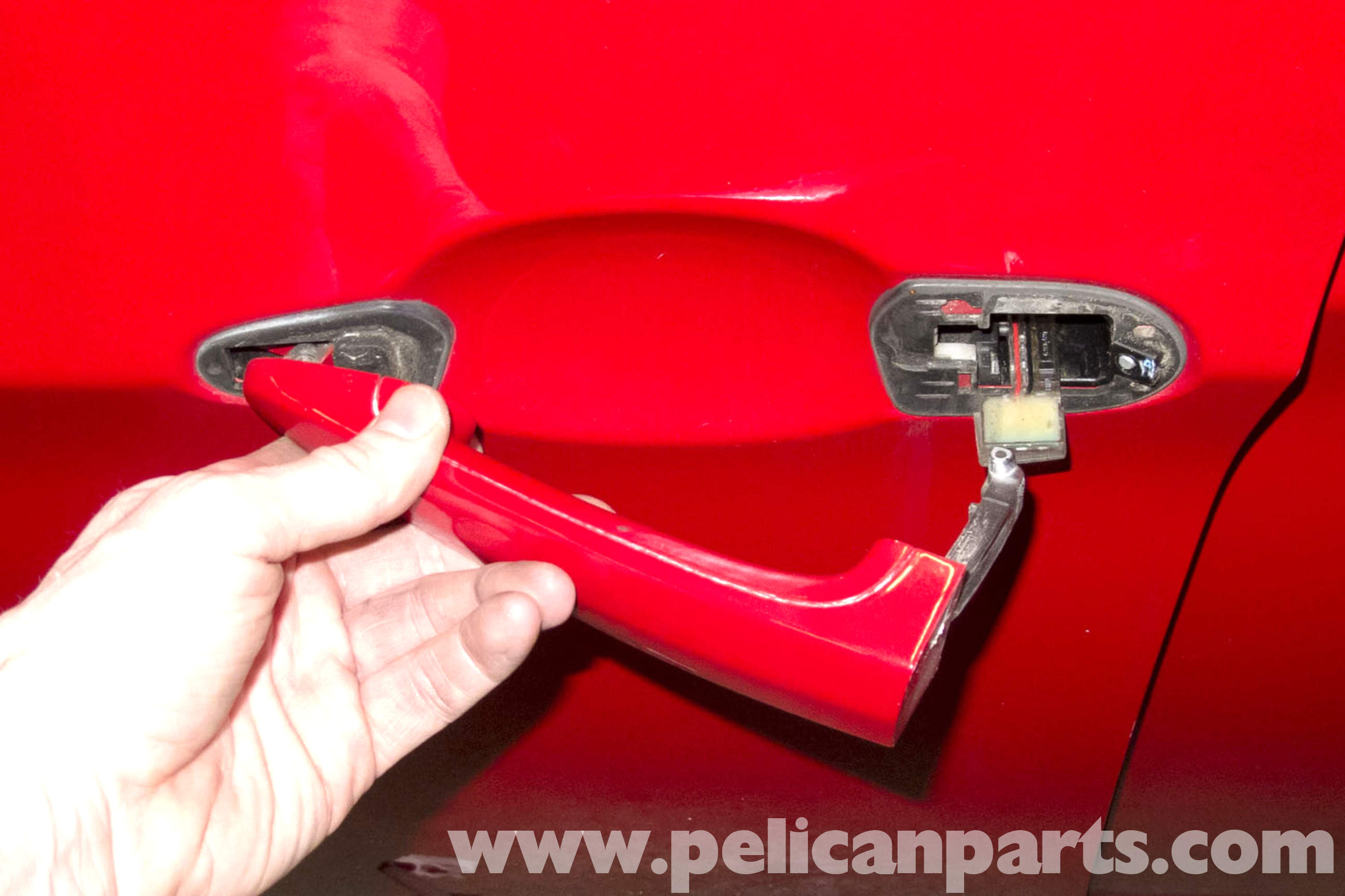 Removing front door home handle - Large Image Extra Large Image