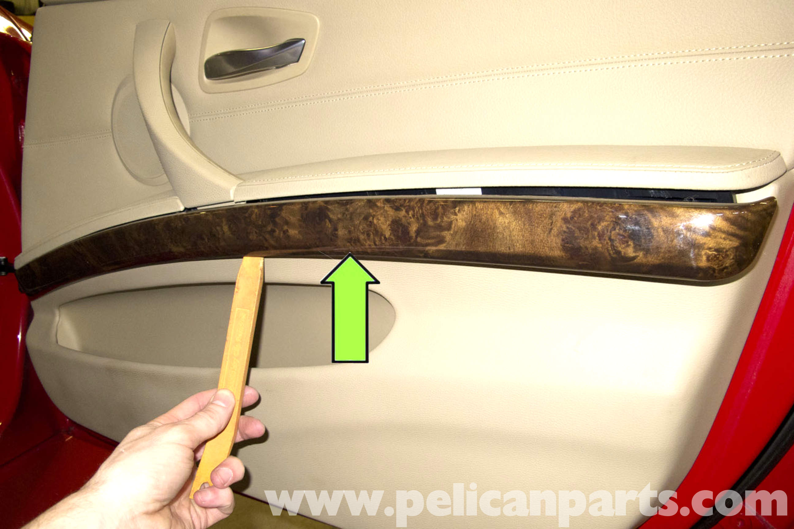 pic03 bmw e90 door panel removal e91, e92, e93 pelican parts diy  at gsmportal.co