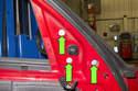 Remove three T30 Torx mirror fasteners.