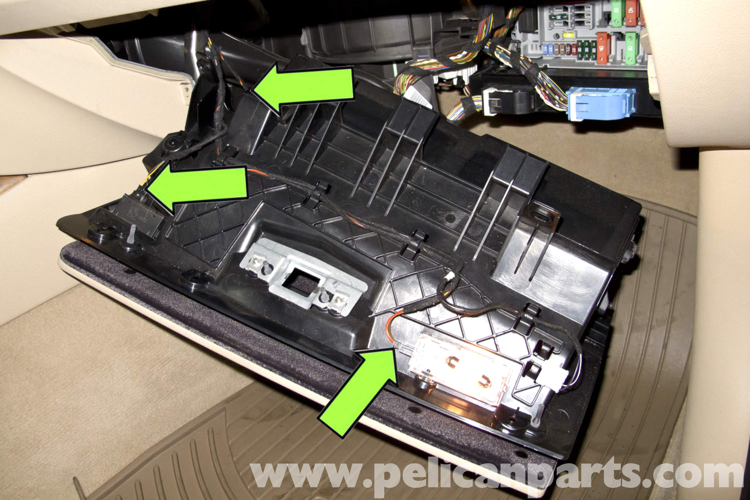 BMW E90 Glove Box Replacement | E91, E92, E93 | Pelican Parts DIY ...